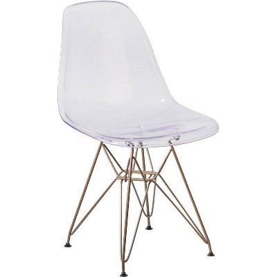 Elon Series Ghost Chair Clear - Riverstone Furniture Collection
