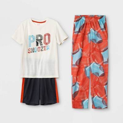 Boys' 3pc Sports Snoozer Pajama Set - Cat & Jack™ White