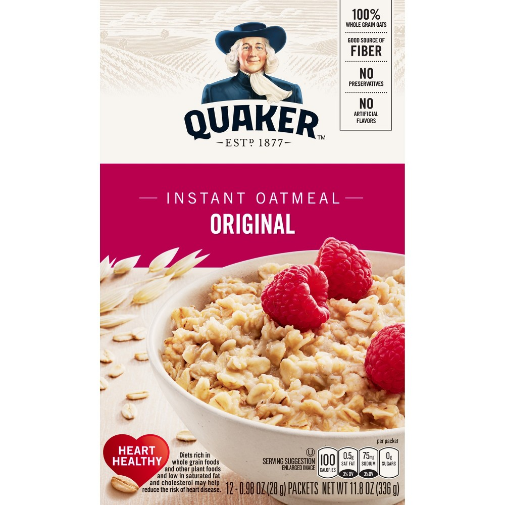 Quaker Original Heart Healthy Oatmeal - 12ct