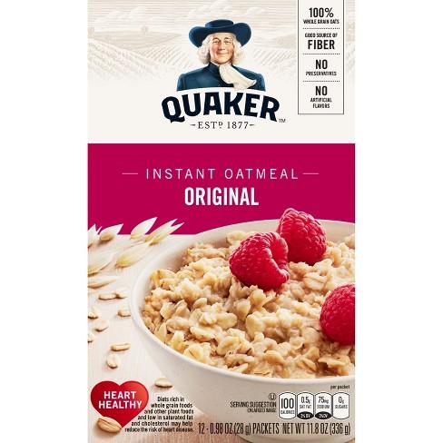 Quaker Original Heart Healthy Oatmeal - 12ct - image 1 of 5