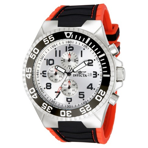 Men's Invicta Pro Diver 12411 Stainless Steel Quartz Strap Watch - Multicolor - image 1 of 2