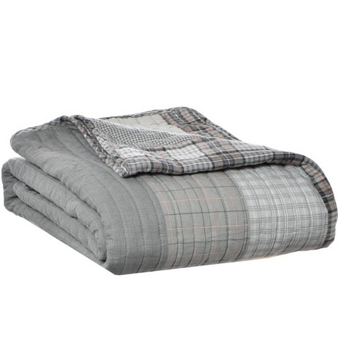Fairview Throw Blanket Gray - Eddie Bauer - image 1 of 2