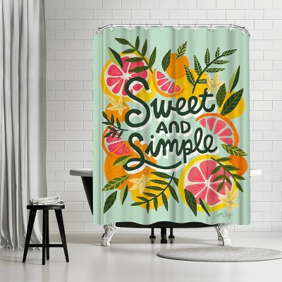 """Americanflat Mint Sweet And Simple by Cat Coquillette 71"""" x 74"""" Shower Curtain"""
