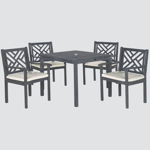 Bradbury 5pc Acacia Wood Dining Set - Gray - Safavieh - image 1 of 4