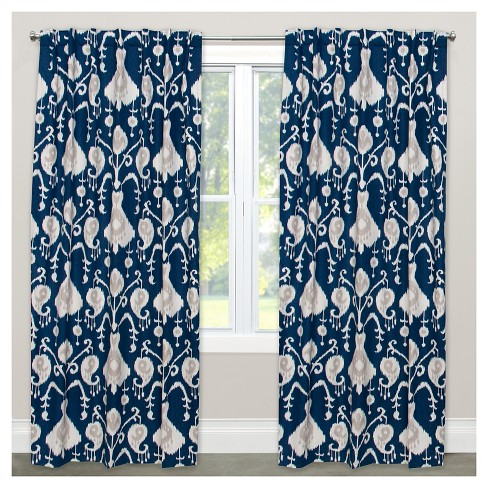 Window Curtain Panels Blue - image 1 of 5