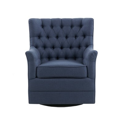 Dolores Swivel Glider Chair Blue