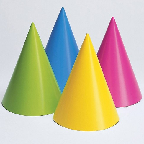 24ct Neon Party Hats - image 1 of 2