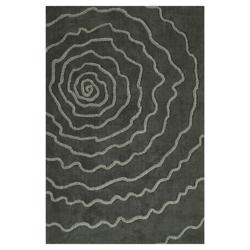 8'X10' Gray Swirl Tufted Area Rug - Addison Rugs