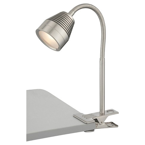 Nobu 1 Light LED Clip-On Lamp -Steel - image 1 of 2