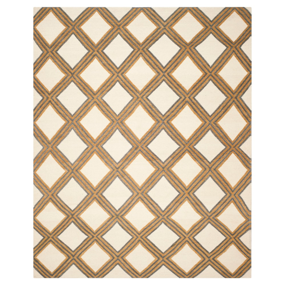 Compare Dhurries Rug - Ivory Gold - (8x10) - Safavieh
