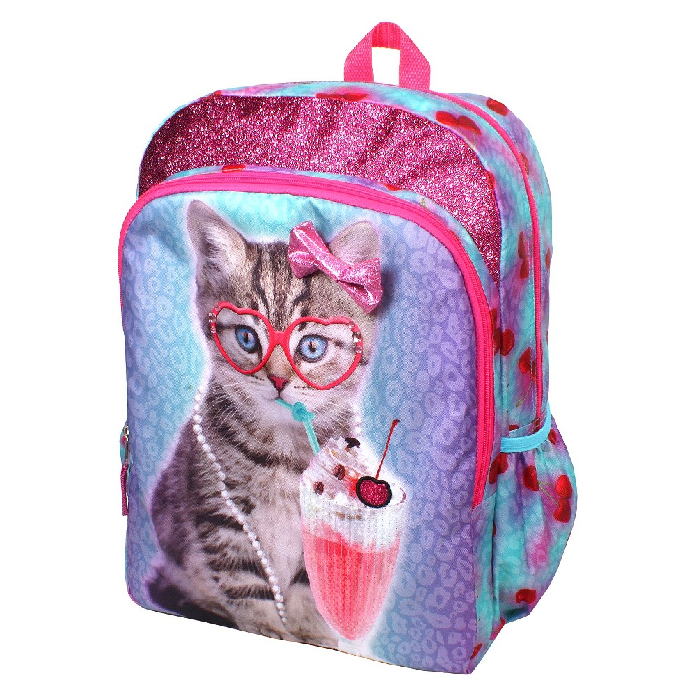 Accessory Innovations 16 Fashion Accessory Innovations Backpack - Blue, Pink/Blue Your kids will love this Generic With A Cherry On Top Cat 16 Backpack. Whether it's for school or for travel, this versatile and rugged backpack totes a lot of stuff and charms any age. Brightly colored with cute graphics. Color: Pink/Blue. Gender: Female.