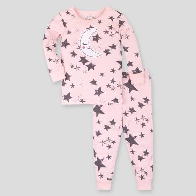 Lamaze Baby Girls' Organic Cotton Stars Pajama Set - Pink 12M