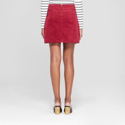 20e06f1eb Women's Mini Button Detail Corduroy Skirt - 3Hearts (Juniors') Burgundy :  Target