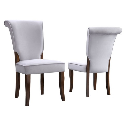 Pershing Dining Chair Wood/Gray (Set of 2) - Inspire Q - image 1 of 4