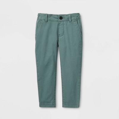 OshKosh B'gosh Toddler Boys' Flat-Front Woven Chino Pants - Green