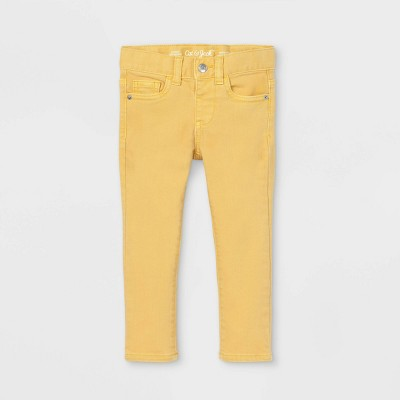 Toddler Girls' Solid Jeans - Cat & Jack™ Yellow