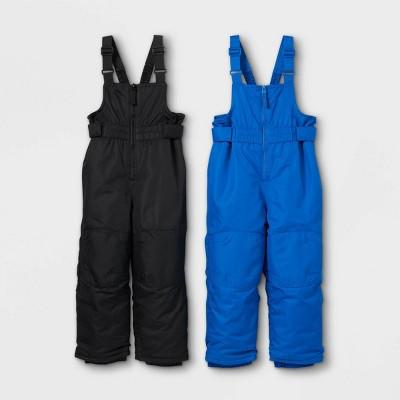 Toddler Boys' Snow Bib - Cat & Jack™ Black/Blue