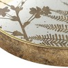 Dahlia Studios Fern Painted Gold and White Round Decorative Tray - image 3 of 4