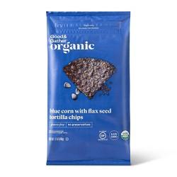 Organic Blue Corn Tortilla Chips with Flax Seeds - 12oz - Good & Gather™