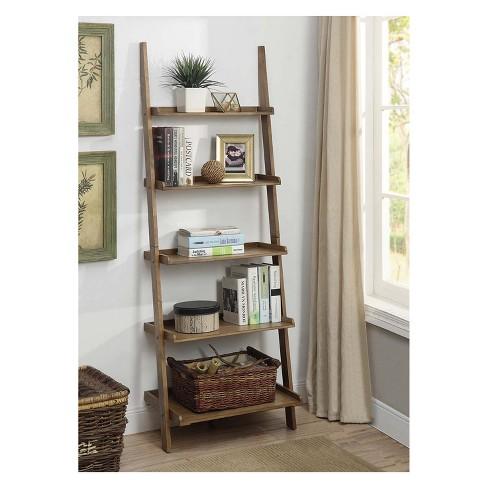 Johar 72 American Heritage Bookshelf Ladder Driftwood Brown Target