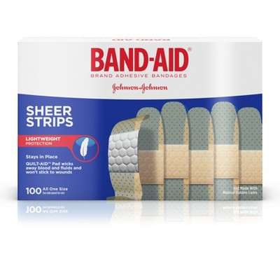 Bandages & Gauze: Band-Aid Sheer Strips