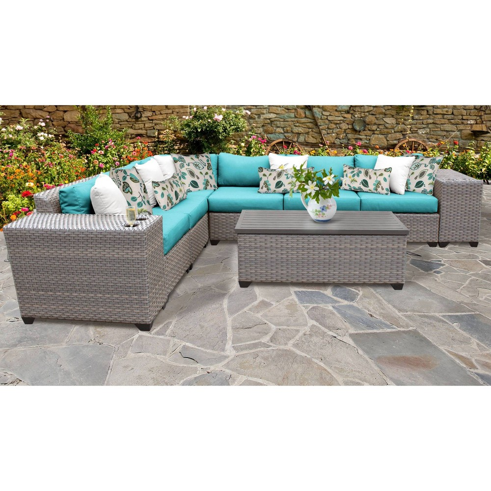 Florence 9pc Sectional Seating Group With Cushions Aruba Tk Classics