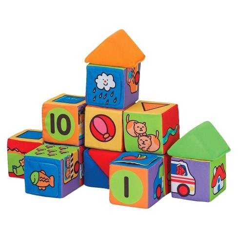 Melissa & Doug K's Kids Match And Build Soft Blocks Set ...