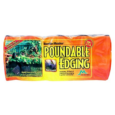 Border Master Poundable Lawn Edging Black - Black - Master Mark Plastics