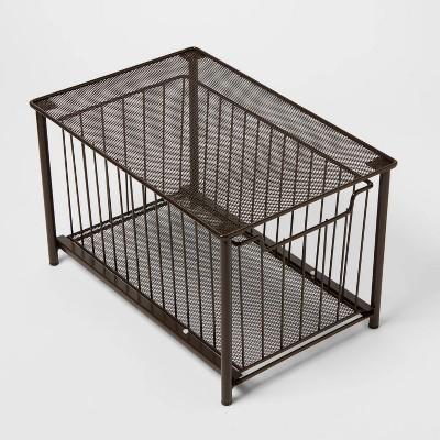 Stackable Slide Out Drawer Organizer Medium Bronze - Threshold™