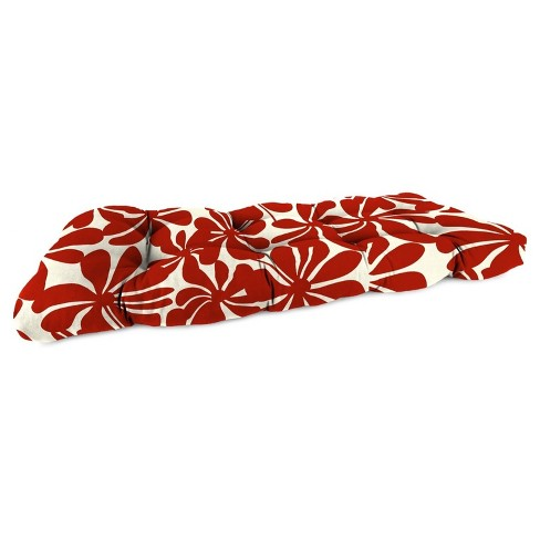 Outdoor Wicker Sette Cushion In Twirly American Red  - Jordan Manufacturing - image 1 of 2