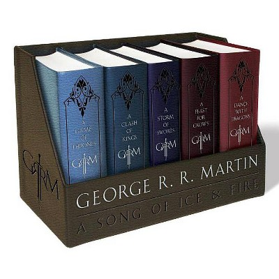 A Game of Thrones Leather-Cloth Boxed Set - (Song of Ice and Fire) by  George R R Martin (Mixed Media Product)