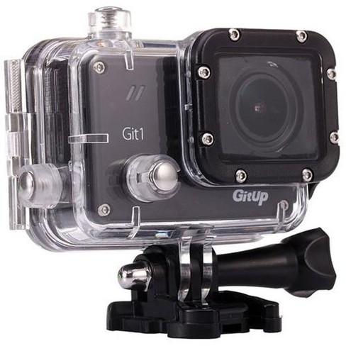 Gitup Git1 1080p Full HD Video Wi-Fi Action Camera, 1920x1080, 30fps, H.264, 98' Housing Waterproof, Pro Packaging - image 1 of 4
