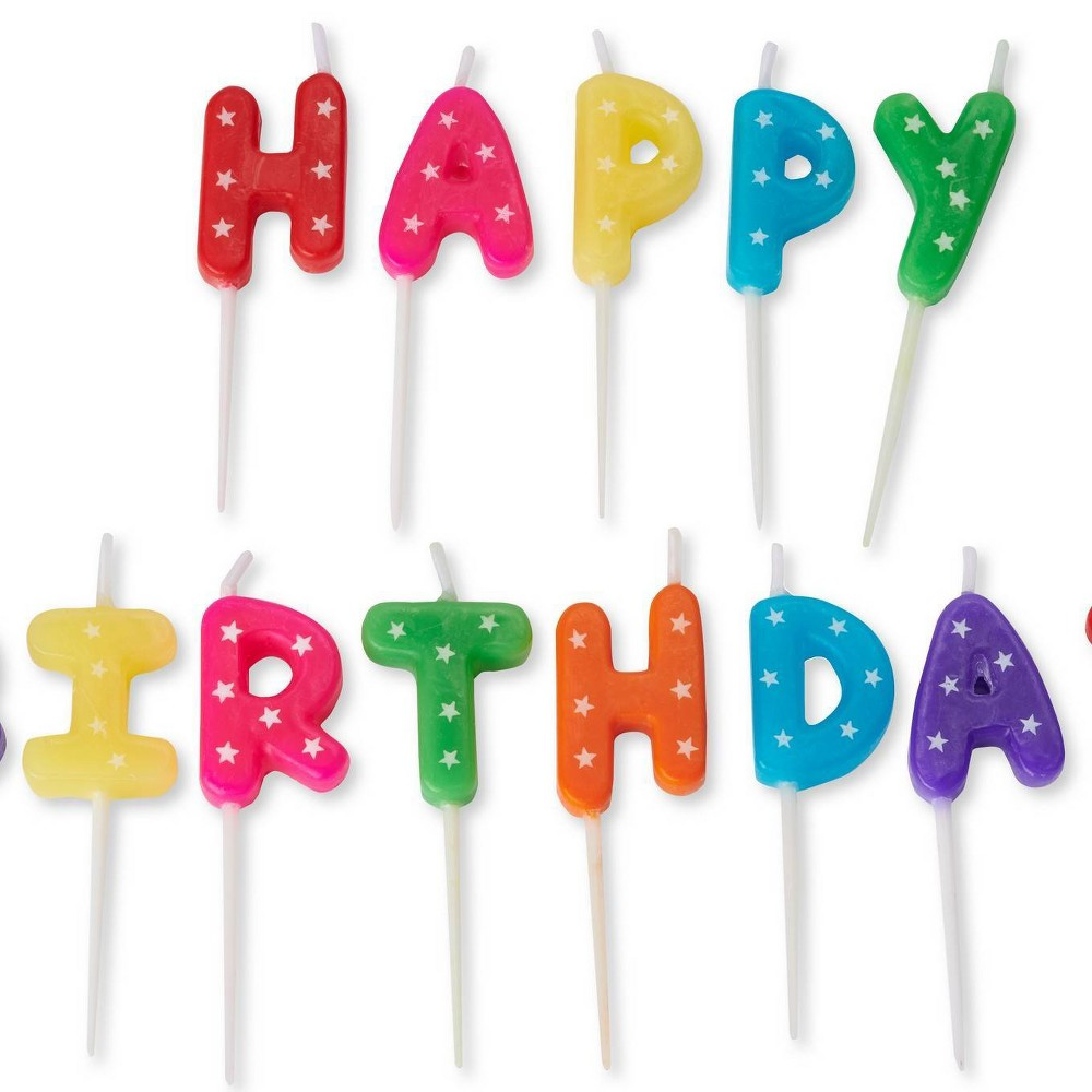 Image of 13ct Happy Birthday Toothpick Candles - PAPYRUS