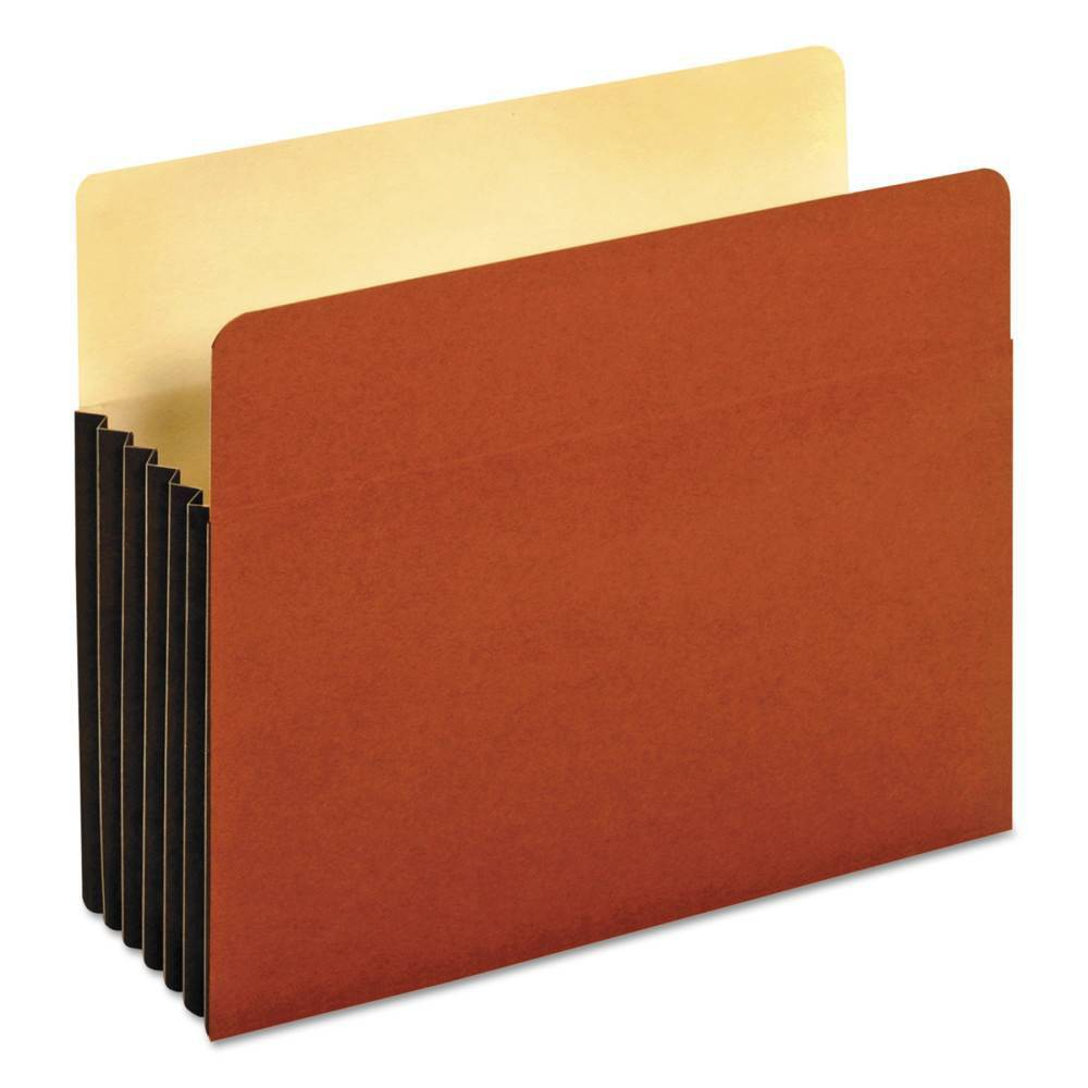 Image of Globe-Weis Drop Front Expanding File Pocket, Top Tab, 5 1/4 Inch, Letter, Brown, 10/Box