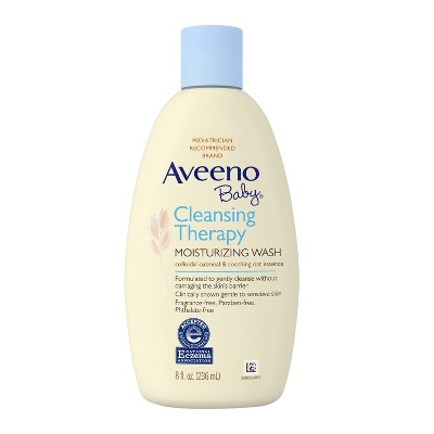 Aveeno Baby Cleansing Therapy Moisturizing Wash - 8-oz.