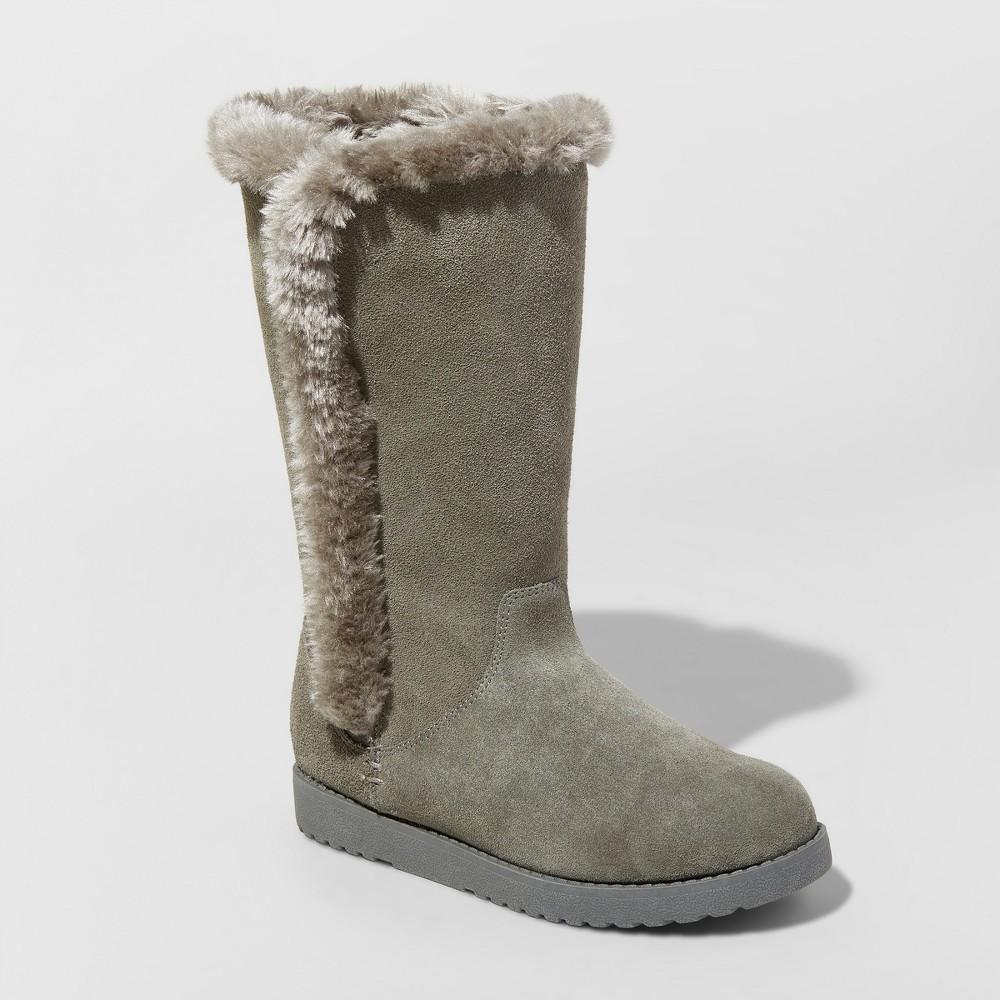 Women's Daniela Suede Winter Tall Boots - Universal Thread Gray 5