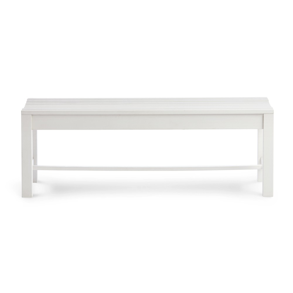4' Outdoor Backless Plastic Bench White - Shine Company Inc.