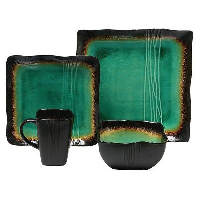 Baum Bros.® Galaxy 16pc Dinnerware Set Jade