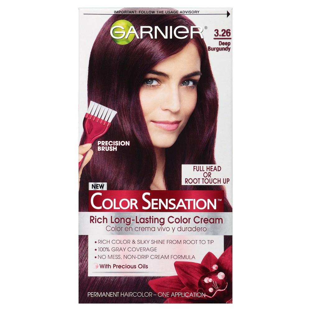 Image of Garnier Color Sensation Rich Long-Lasting Color Cream 3.26 Deep Burgundy, 3.26 Deep Red