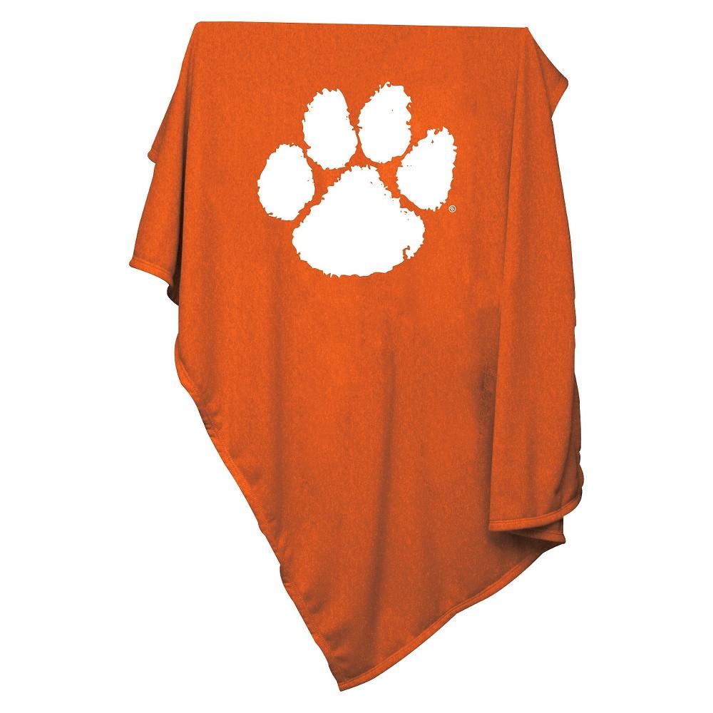 Clemson Tigers Sweatshirt Throw Blanket