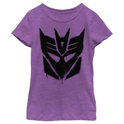 Girl's Transformers Decepticon Graffiti Logo T-Shirt
