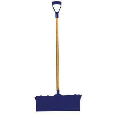 "WESTWARD 36RG03 22-1/4"" Poly Snow Shovel with 42"" Wood Handle"