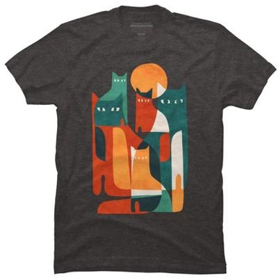 Cat Cat Cat Mens Graphic T-Shirt - Design By Humans