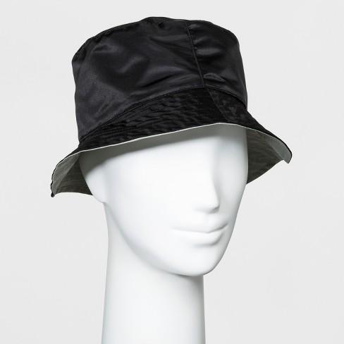 8857128a96157e Women's Reversible Rain Bucket Hat - A New Day™ Black : Target