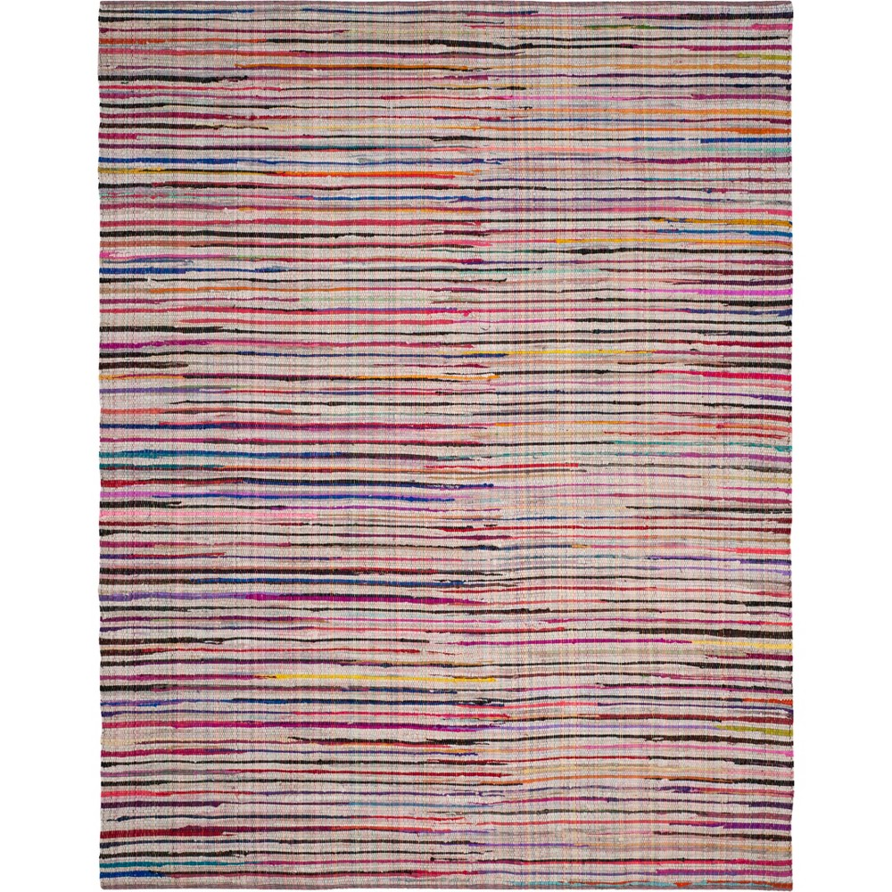 9'X12' Stripe Woven Area Rug Ivory - Safavieh, Ivory/Multi-Colored