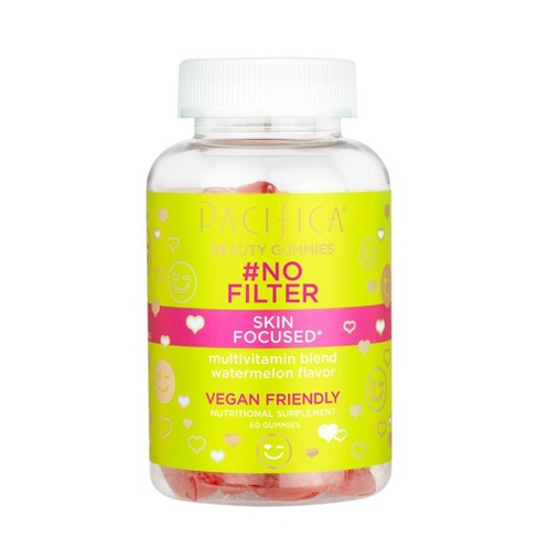 Pacifica No Filter Beauty Gummies - Watermelon - 60ct - image 1 of 2