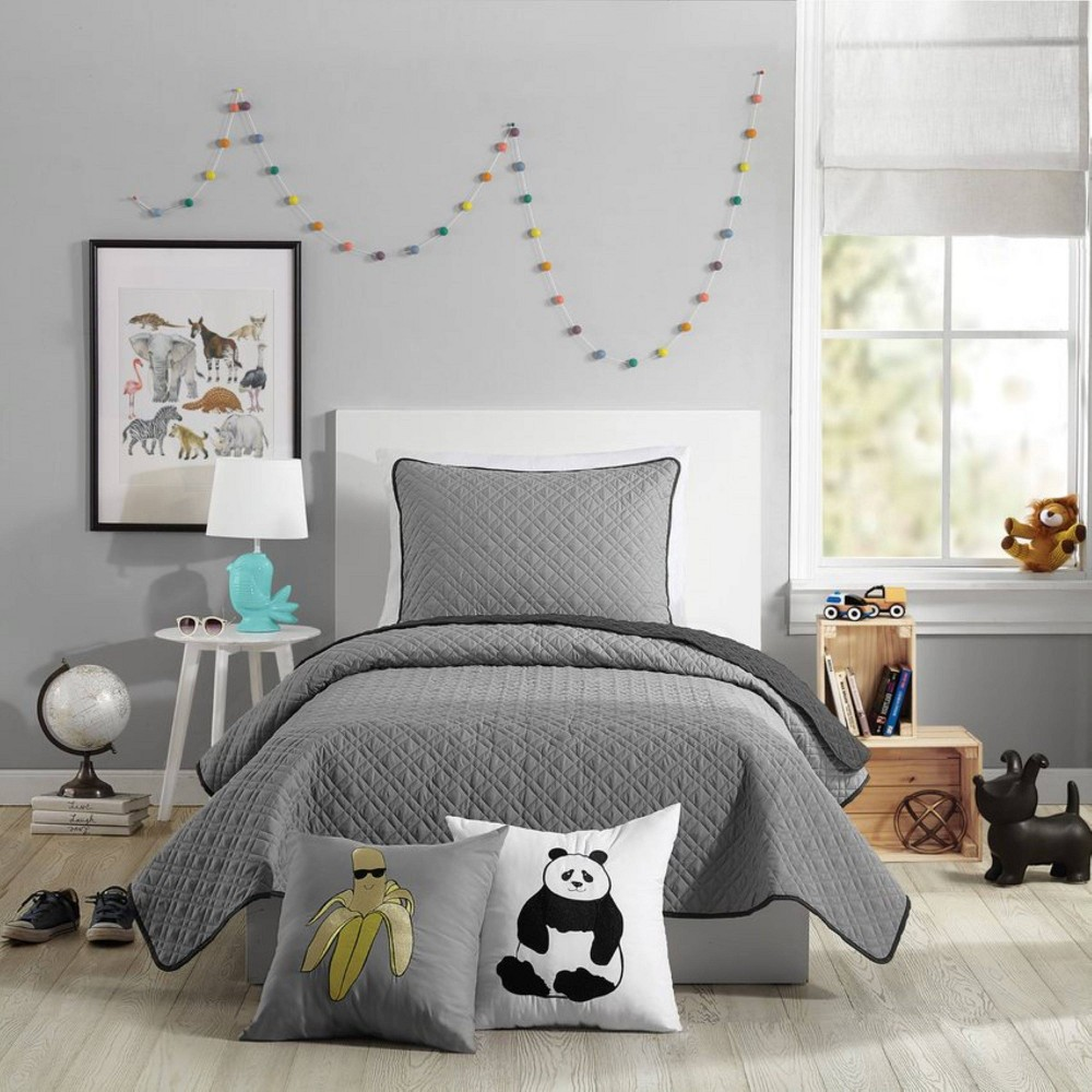 Image of 2Pc Twin Corbin Quilt Set Gray - Urban Playground