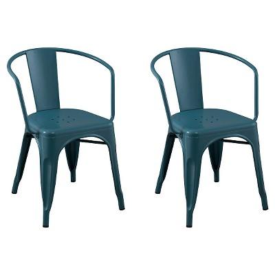 Carlisle Metal Dining Chair Teal Set Of 2 Target Inventory Checker Brickseek