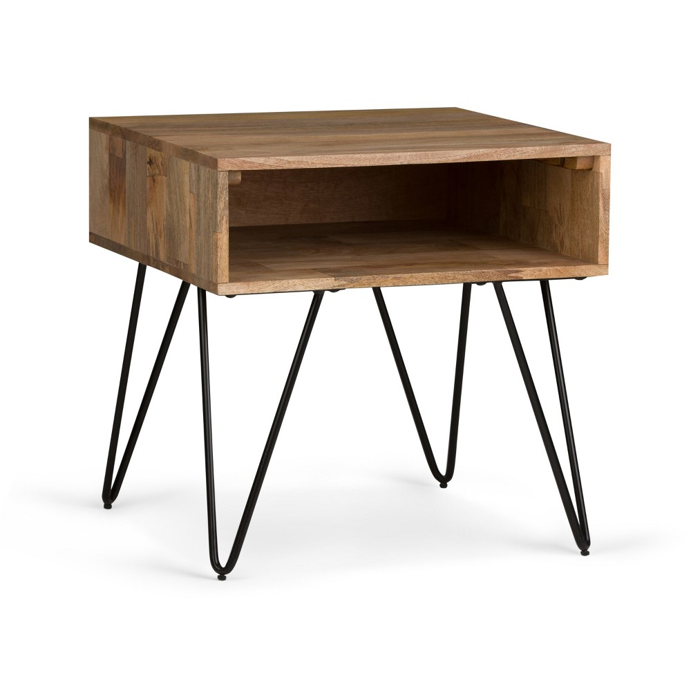 Moreno Solid Mango Wood End Table Natural - Wyndenhall