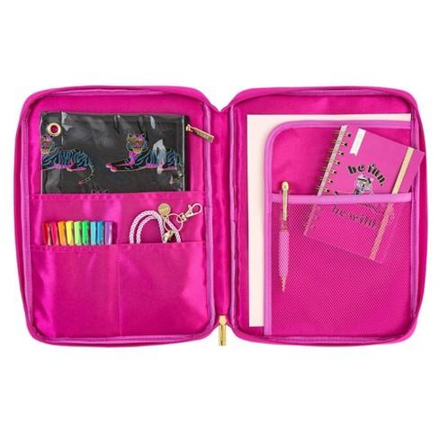 b5547ee39f21 8 Pocket Fabric File Folder and Organizer Pink - Yoobi™